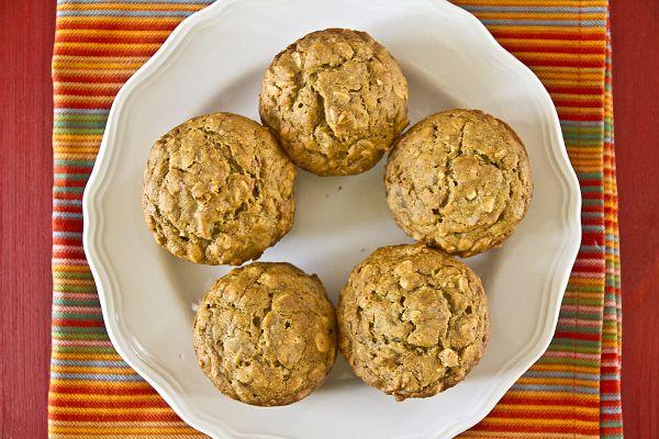 Almond bran muffins