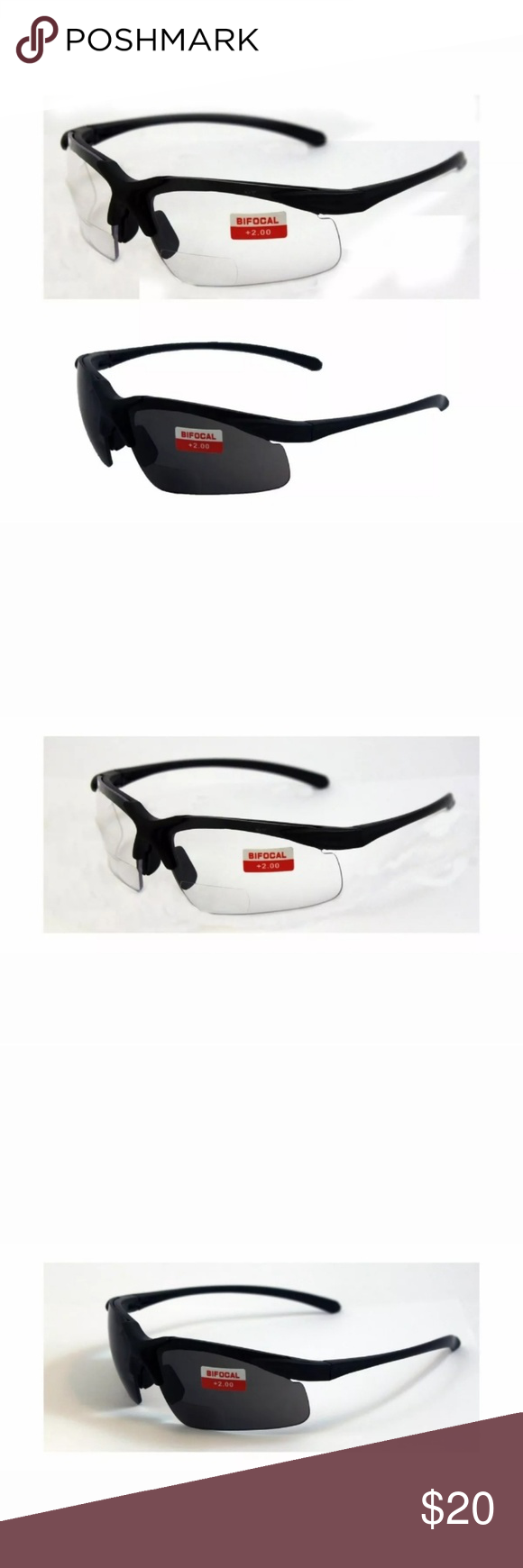 2 Bifocal Z87 Safety Glasses 2.0 grocery store Boutique