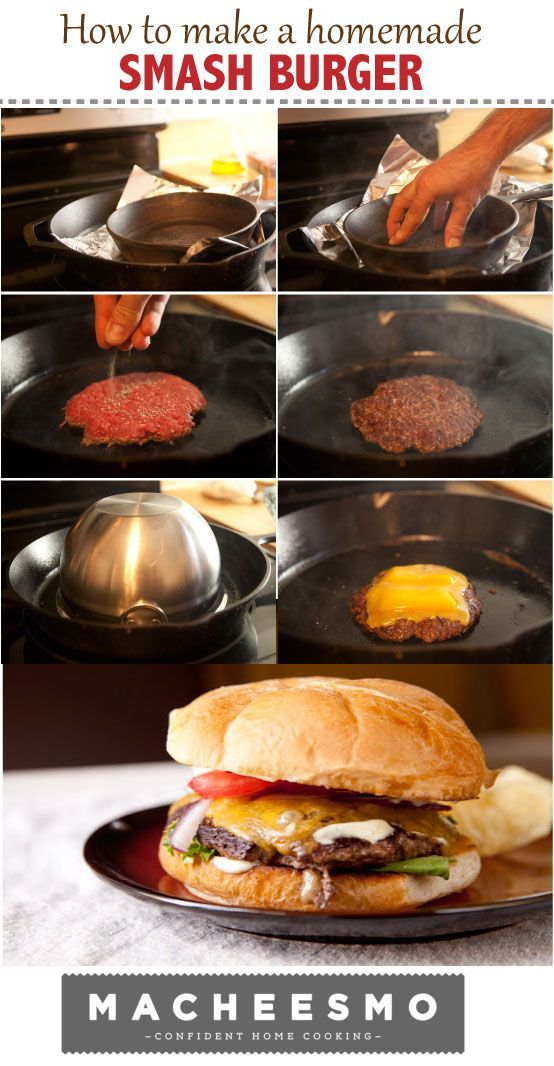 Homemade Smash Burgers Recipe Macheesmo Recipe Smash Burger Recipe Smash Burger Cast Iron Recipes