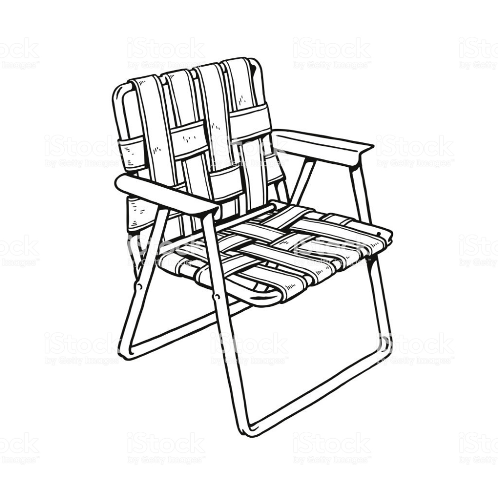 Vector Line Drawing Lawn Chair Google Search Lawn Chairs Outdoor Chairs Chair