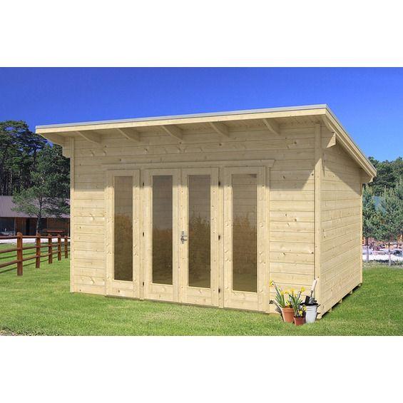 skan holz gartenhaus ostende 2 natur b x t 400 cm x 300 cm. Black Bedroom Furniture Sets. Home Design Ideas