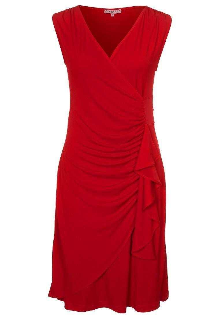Abiti da cerimonia per taglie forti - Vestito rosso drappeggiato di Anna  Field bf1560c2591