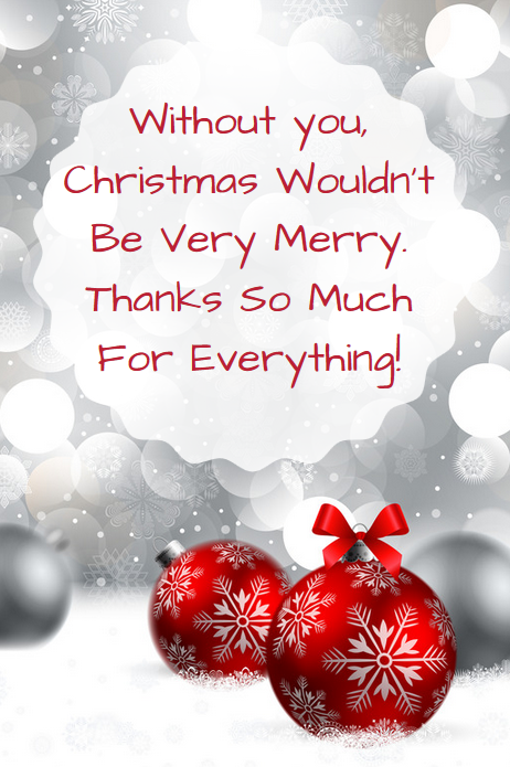 Business Thank You Messages: Examples for Christmas | Christmas thank you,  Christmas card verses, Christmas card messages
