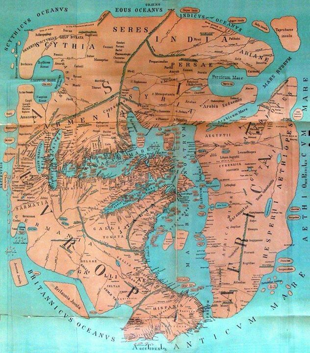 How the world was imagined early maps and atlases early modern old world map europe left africa right asia on top gumiabroncs Choice Image