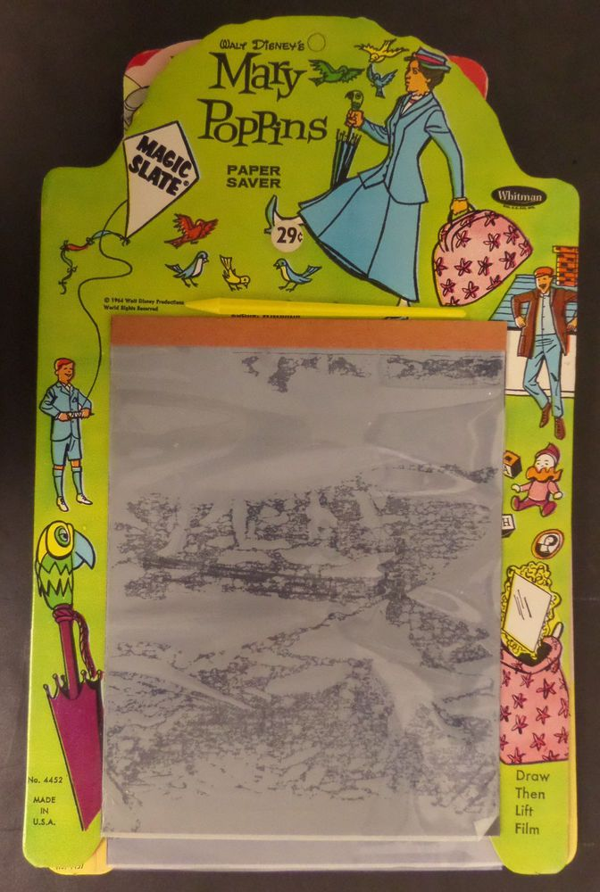 Walt Disney Mary Poppins Vintage Magic Slate 1964 Whitman Publishing Drawing Toy