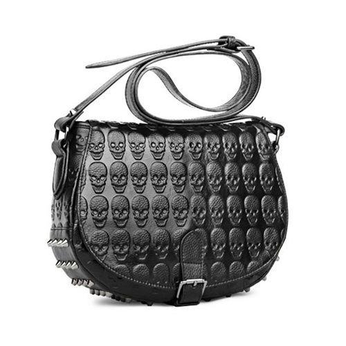 Fashion Women Lady Punk Skull Rivet Handbag PU Leather Clutch Shoulder Bag  New #UNBRAND #BackpackStyle