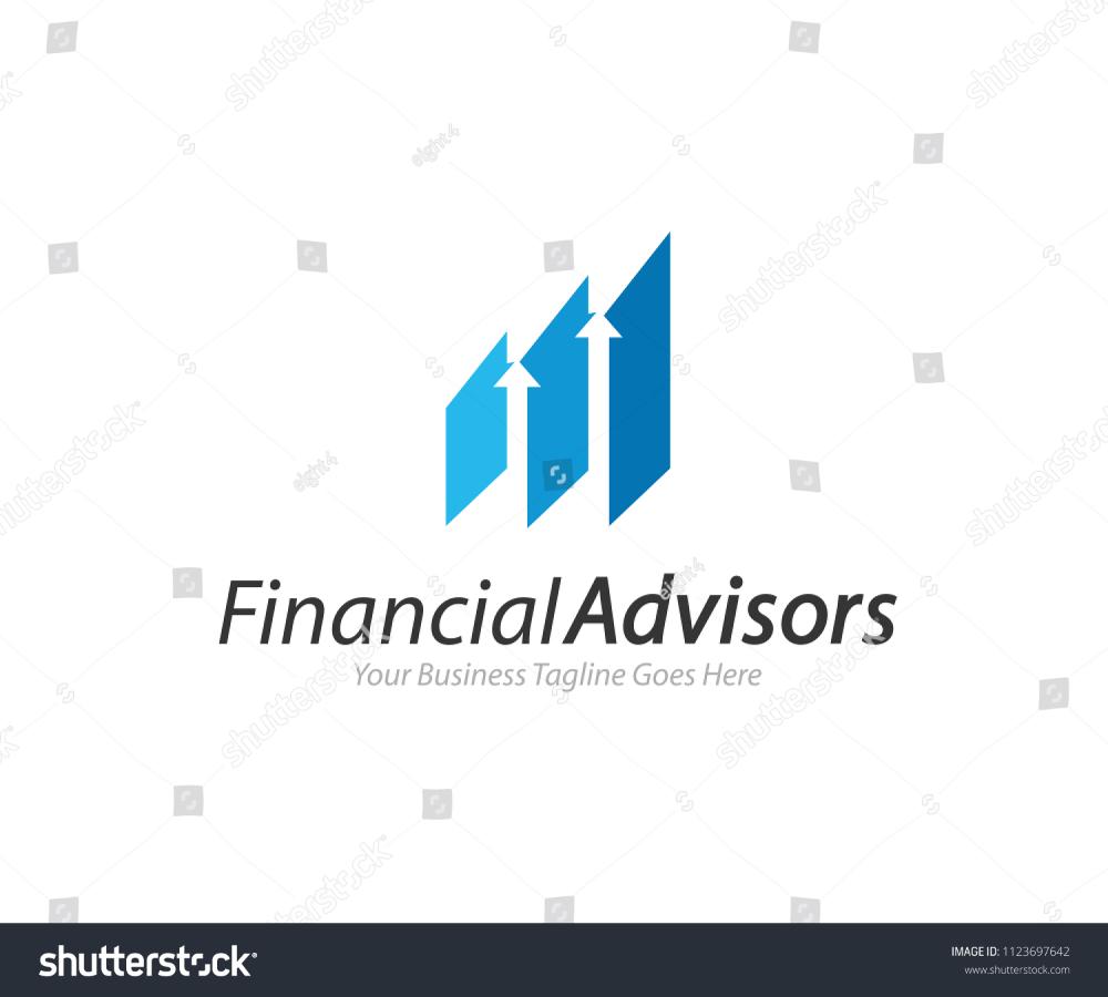 Financial Advisors Logo Design Template Vector Stock Vector Royalty Free 1123697642 In 2020 Financial Logo Marketing Logo Finance Logo