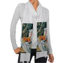 Cezanne Still Life CurtainFlowered PitcherFruit Scarf