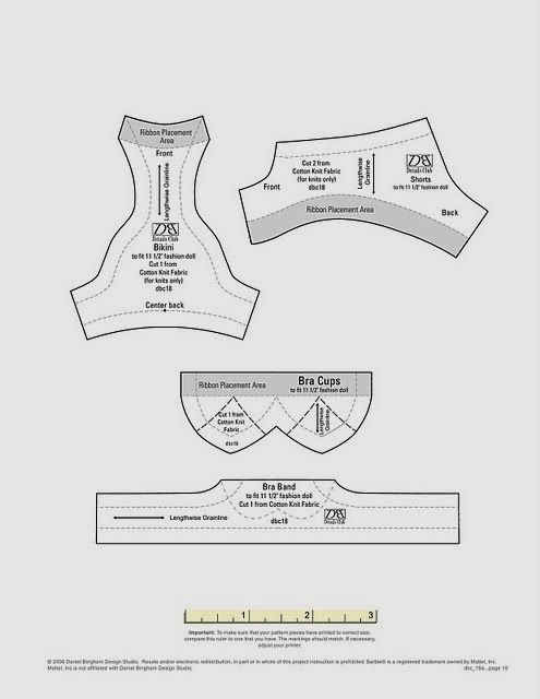 Easy to follow instructions for pretty underwear for 11.5 inch and ...