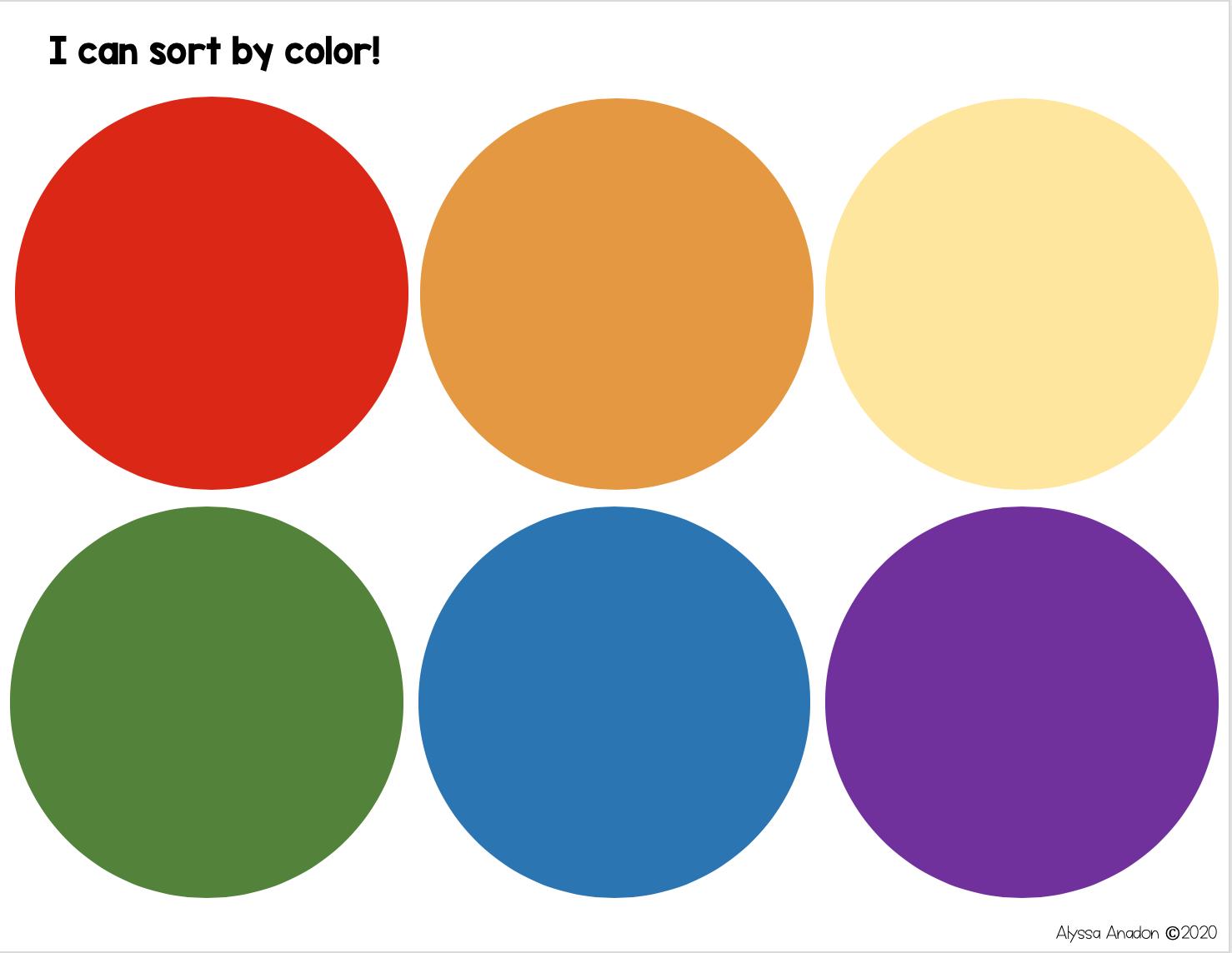 Color Sorting Mat Printable Free