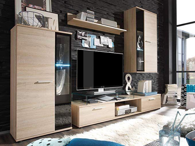 Wohnwand Mediawand Anbauwand Wohnzimmerschrank Wohnzimmer Mobel