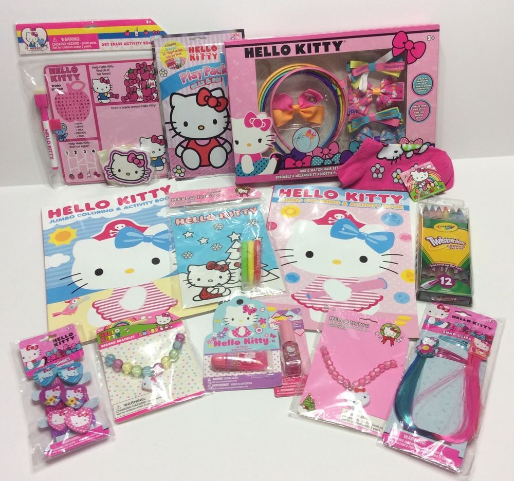 Hello kitty gift set lot stocking party hair accessories