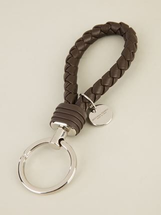 Bottega Veneta Intrecciato Woven Key Ring Farfetch Com Leather Keychain Mens Jewelry Key Rings