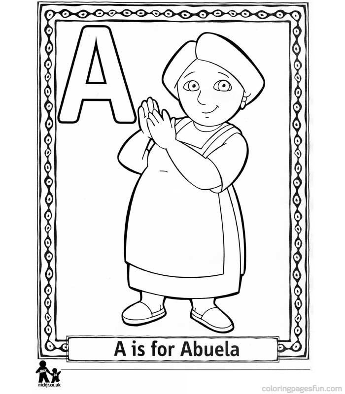 Dora the Explorer Alphabet Coloring Pages Colouring Pages for kids - copy elmo coloring pages birthday