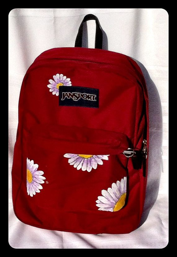 3c5e832fdc Painted Jansport Backpack on Etsy