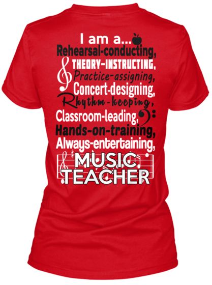 66149e51e4f8 GREAT music teacher tee shirt! … | WOJ christmas | Music…
