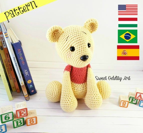 Bear crochet pattern, bear pattern, crochet bear, bear tutorial #crochetdinosaurpatterns