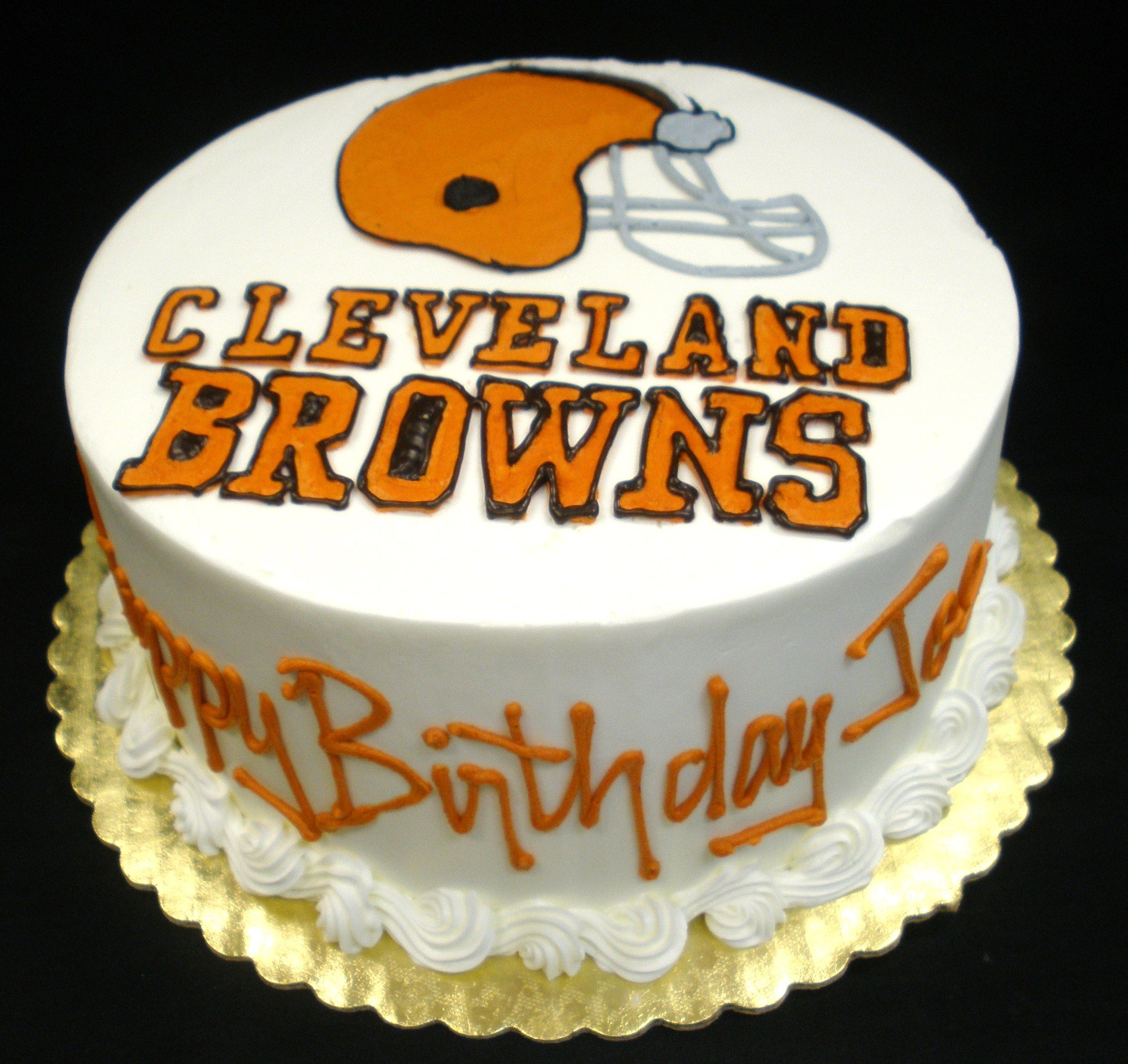 Happy 35th Birthday Highlands Ranch: Cleveland Browns Birthday Cake -For My Dad