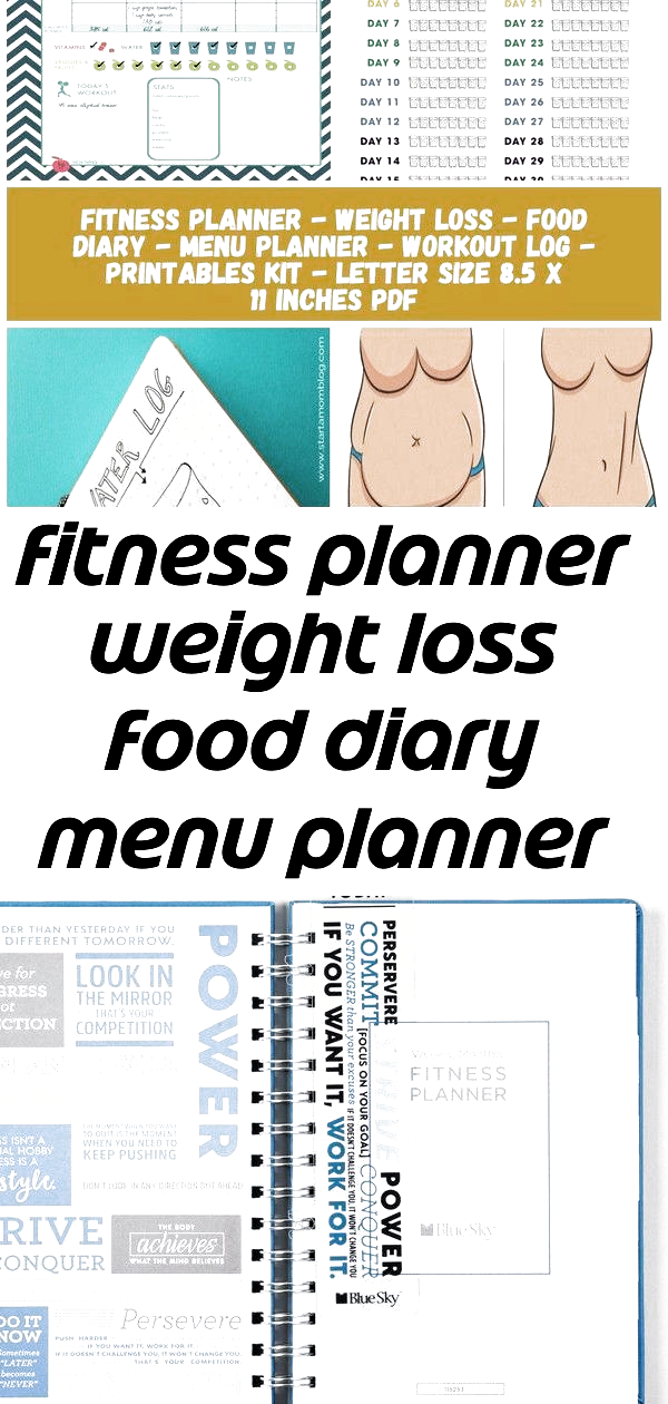 Fitness planner weight loss food diary menu planner image 1 diet plan bullet journal fitness plann 1...