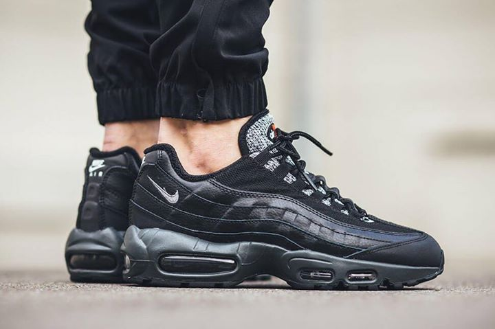 a662908013ed Nike Air Max 95 Essential Black Grey Woven. http