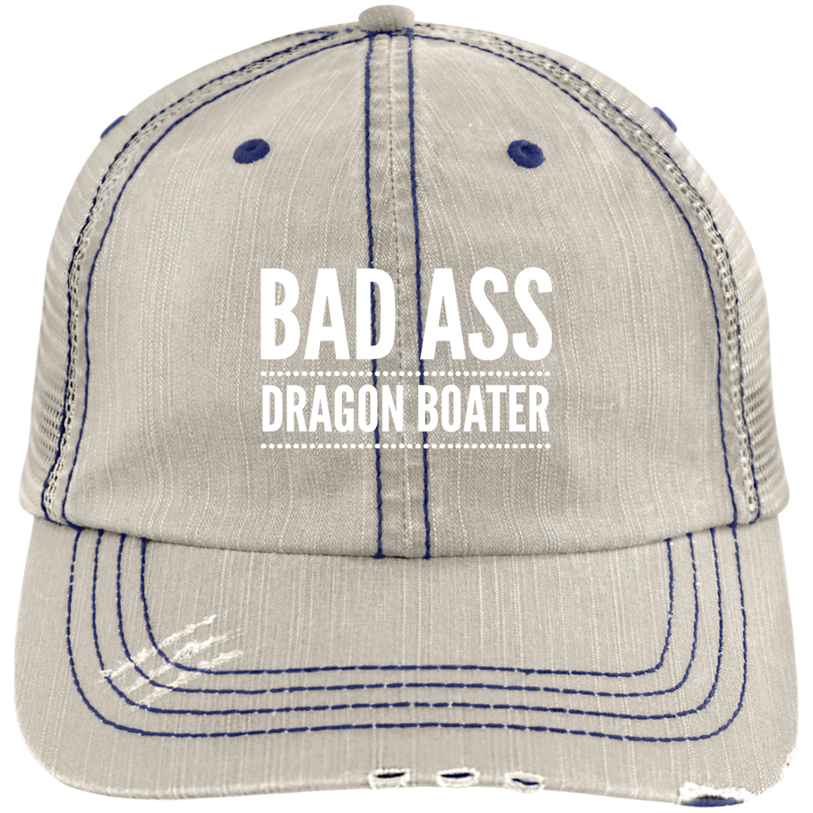 BadAss Dragon Boater Distressed Unstructured Cap Boater
