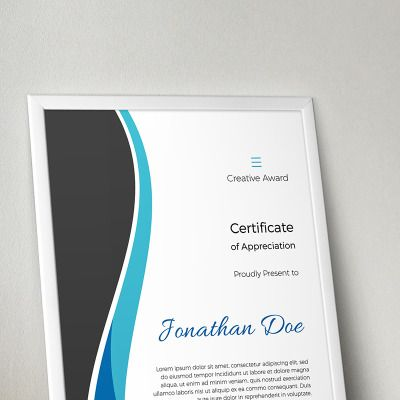 Creative Award Certificate Template Certificate design