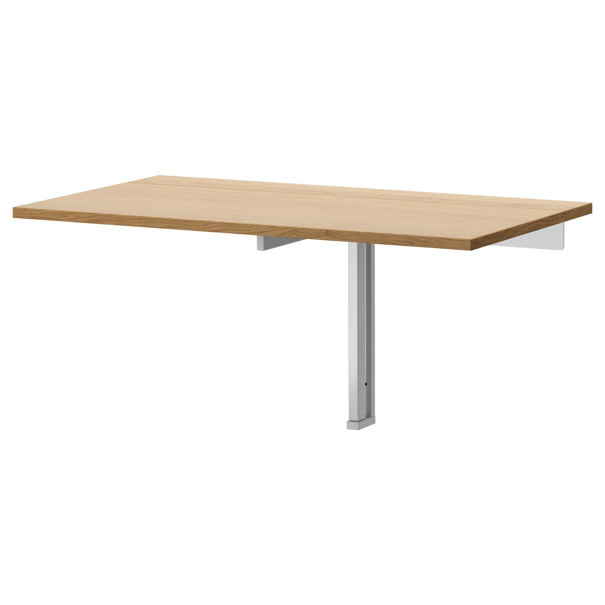 IKEA BJURSTA wall-mounted drop-leaf table The clear-lacquered surface is  easy