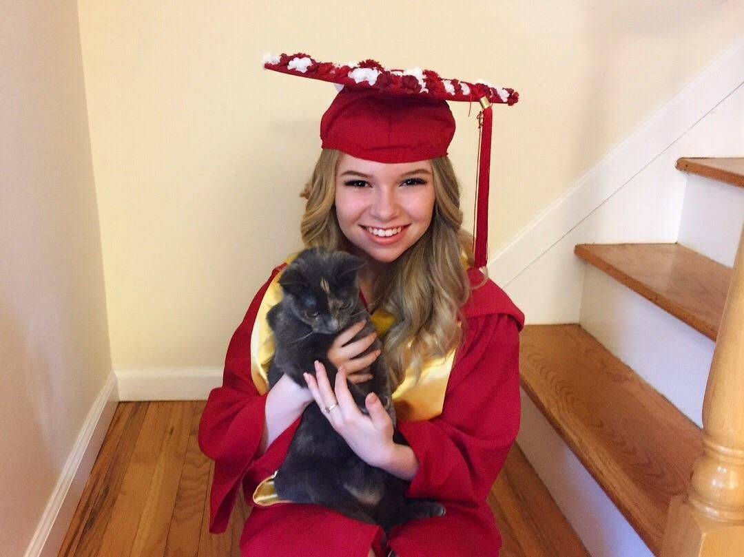Me And My Kitten Lyra On The Day Of My College Graduation Police Dogs Kitten Cats