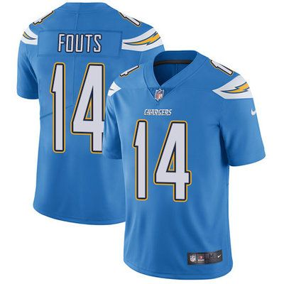nike chargers 14 dan fouts electric blue alternate mens stitched nfl vapor untouchable limited jersey