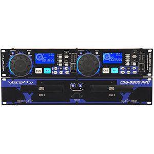 VocoPro CDG8900PRO Dual CD/CD+G Player DSP Pitch - Walmart.com