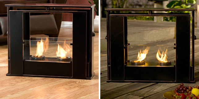 portable indoor outdoor fireplace portable fireplace rh pinterest com  portable indoor/outdoor gel fuel fireplace