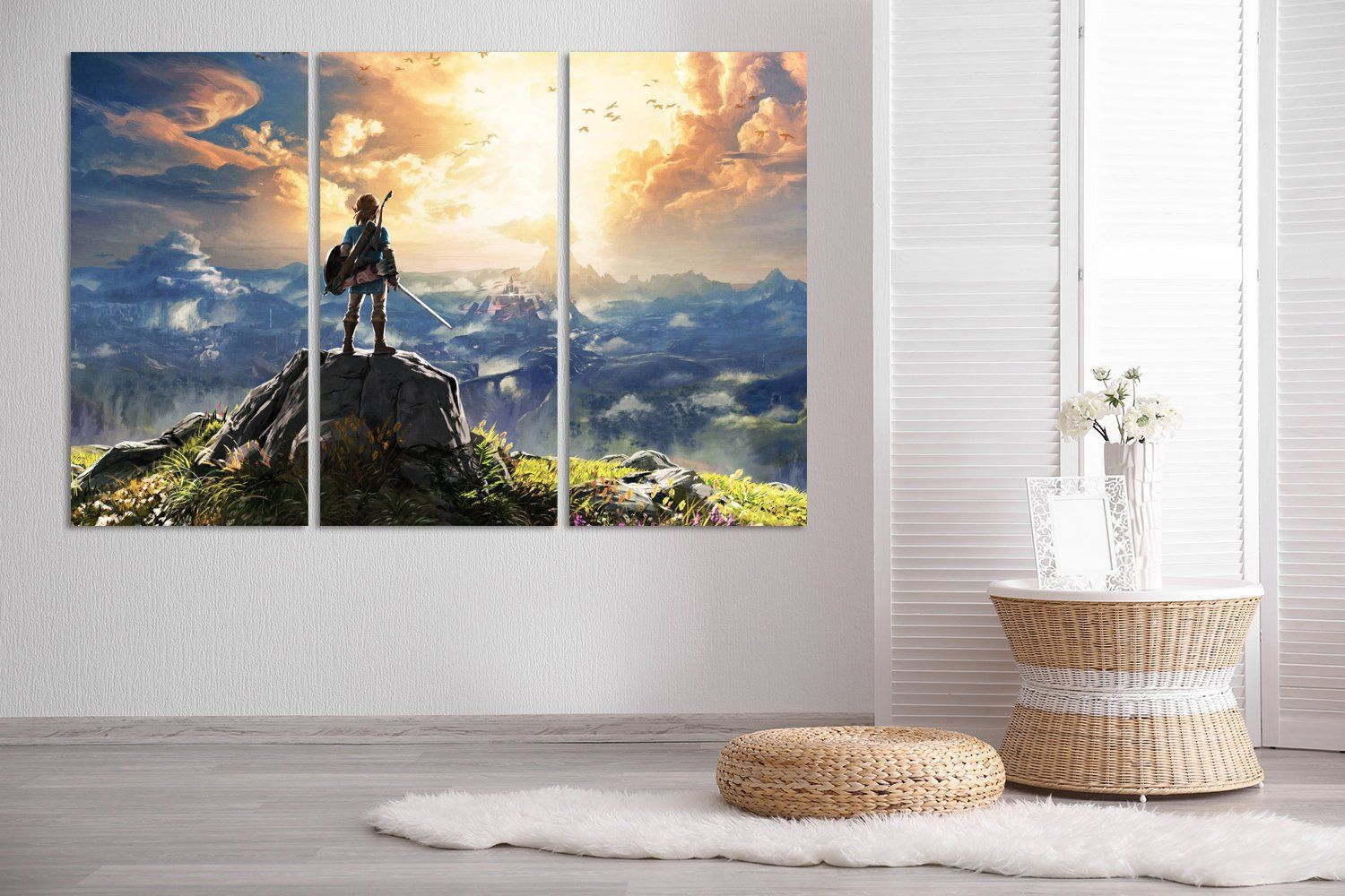 The Legend Of Zelda Wall Art Zelda Canvas Print Zelda Poster Etsy Extra Large Wall Art Large Canvas Wall Art Kids Room Wall Art
