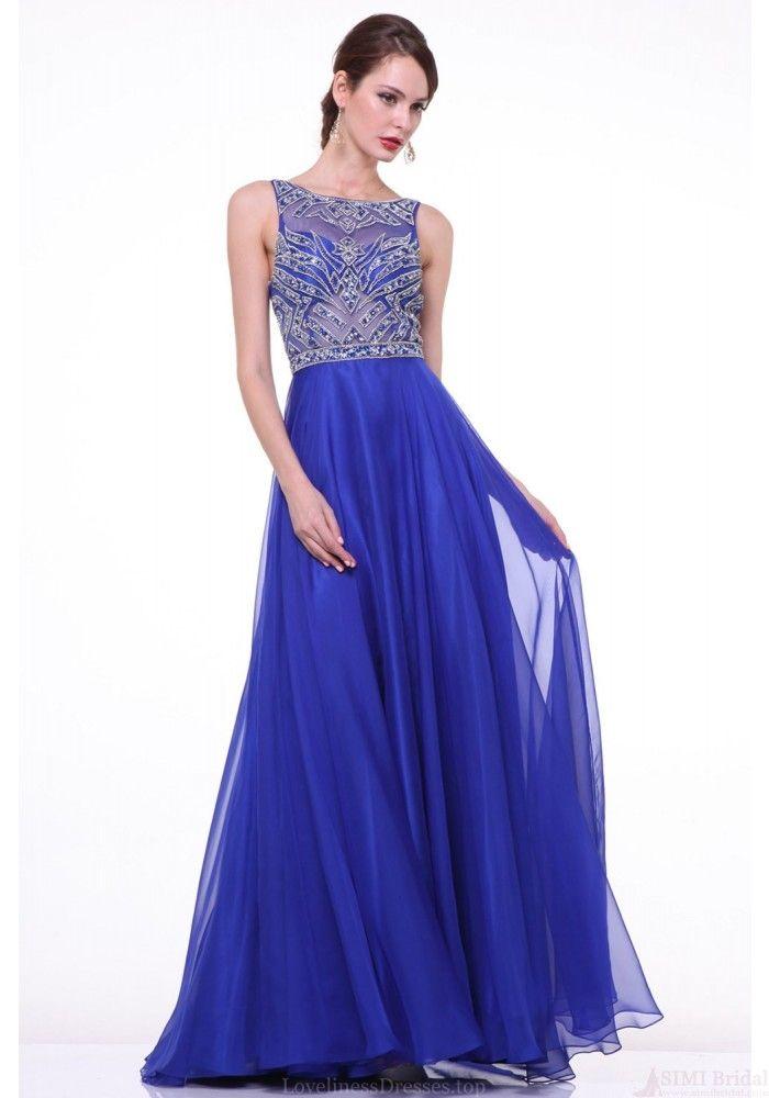 Atractivo Modesta Marina Vestidos De Dama De Honor Azul Elaboración ...