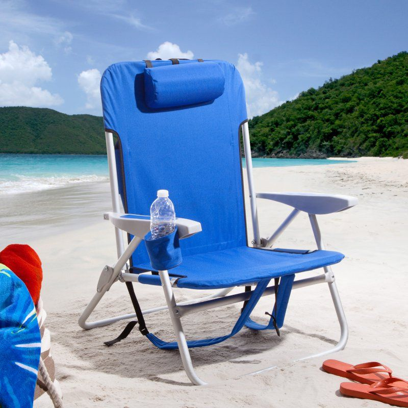 Outdoor Rio Extra Wide Backpack Beach Chair Blue SC537