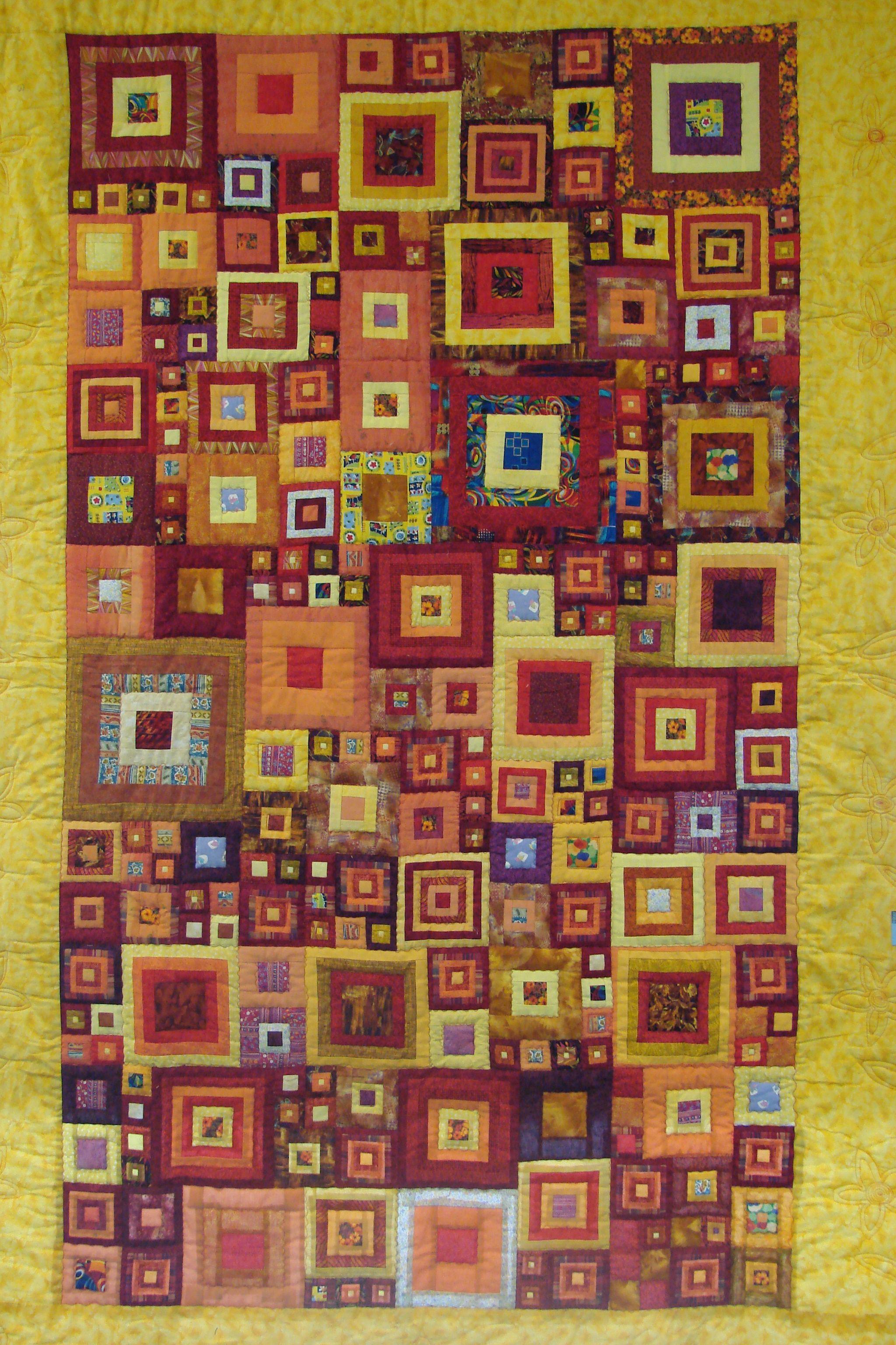 Quilt Inspired By Klimt Inspiration Pinterest
