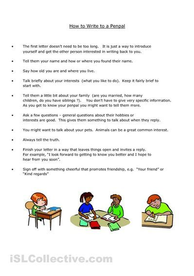 Pen Pal Letter Writing Template For Children Now That We Re