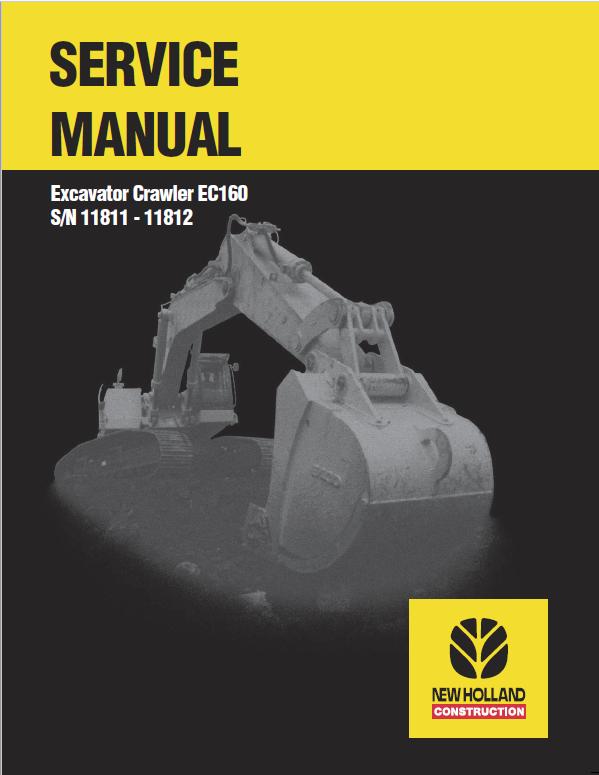 New Holland Ec160 Crawler Excavator Service Manual New Holland Repair Manuals Excavator