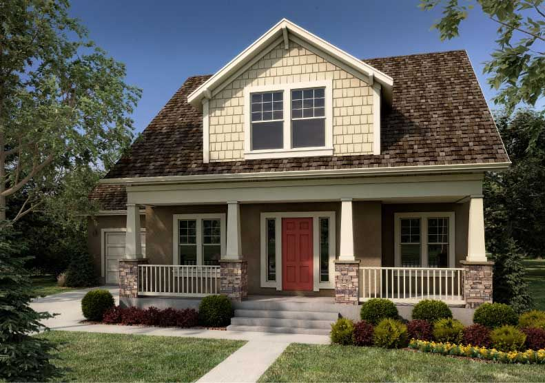 2 story homes with front porch | Kensington Craftsman home design ...