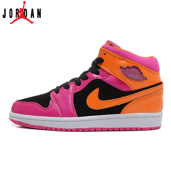 ebfaee5a8e5c 555112-026 Air Jordan 1 Retro Phat Black Pink Orange Florida Women's Shoe, Jordan