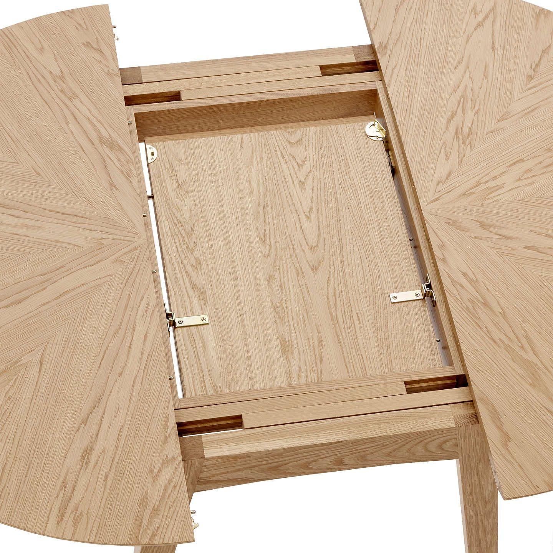 John Lewis & Partners Duhrer 4-6 Seater Extending Round Dining Table, Oak