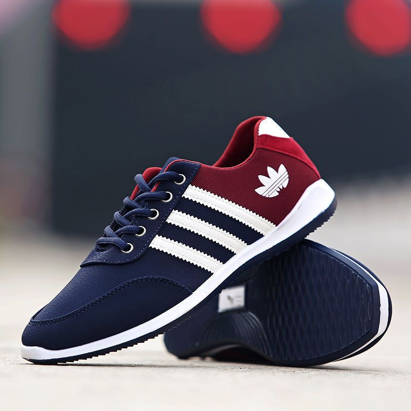 92a4e53f6cc New Fashion Mens Sneakers Breathable Canvas Running Athletic Sport ...
