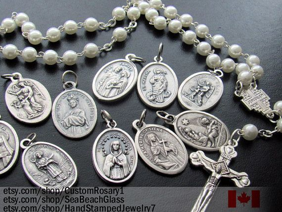 Catholic Saints Charms,Wholesale Lot of 5 FIVE Medals, Patron Saint