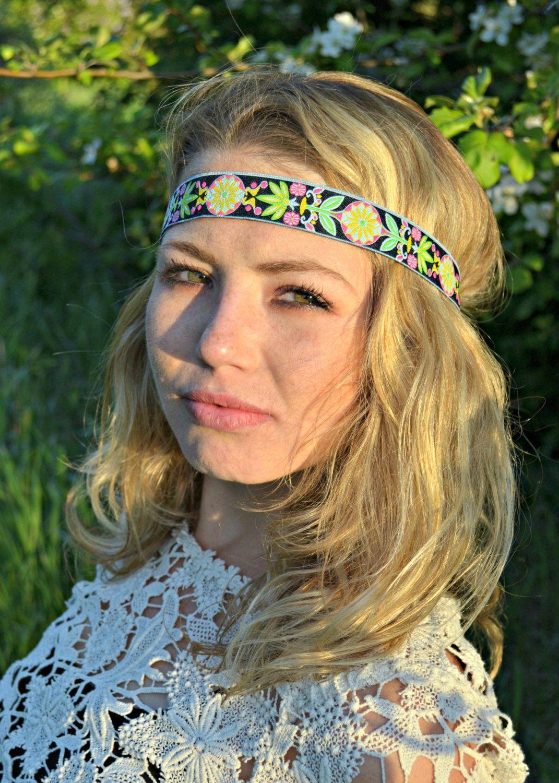 Hippie Flower Headband Hippie Boho Festival By