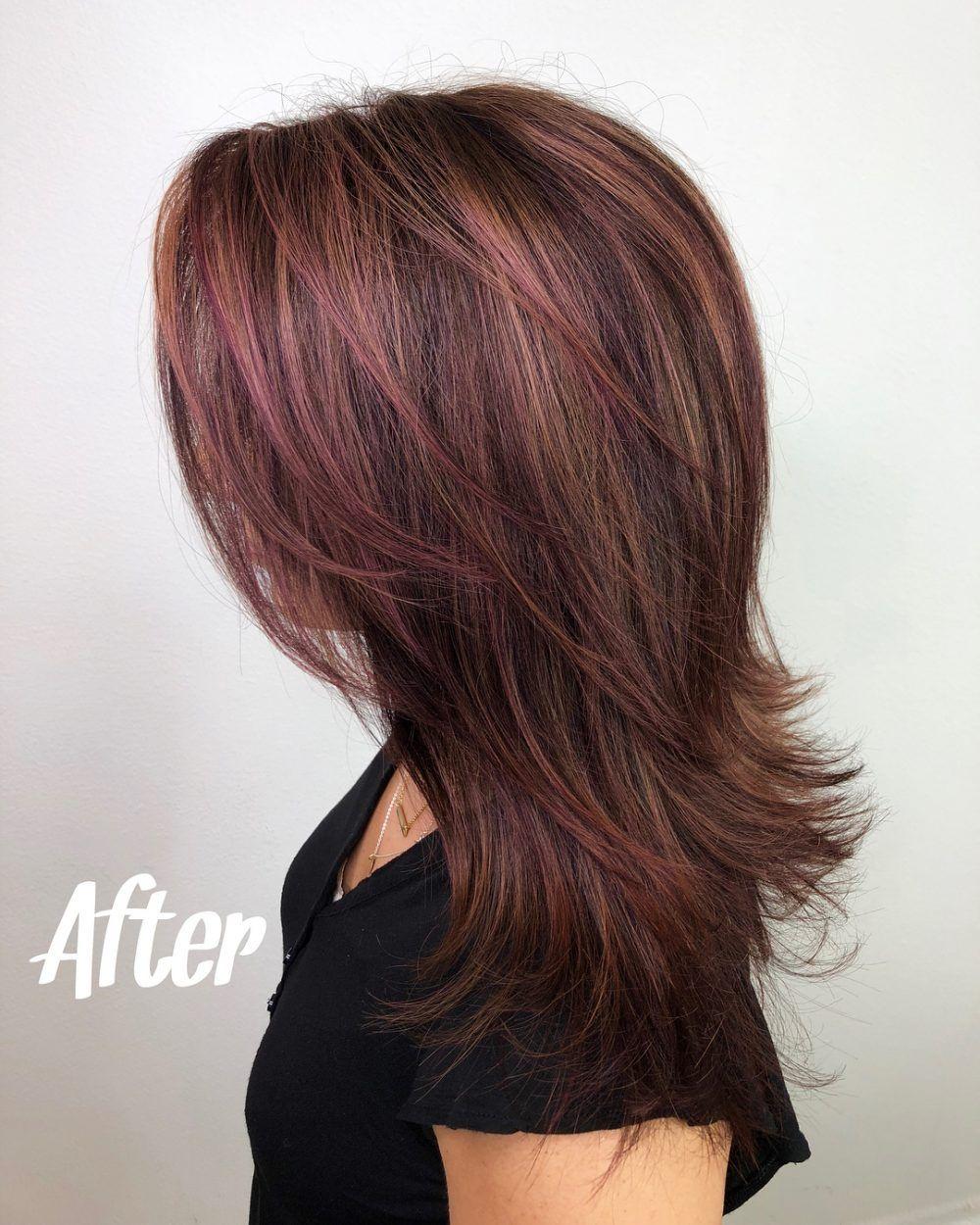 20 Popular Balayage Brown Hair Colors Of 2019 Burgundy Hair