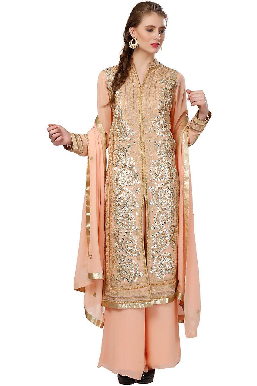 Creme lakhnavi net bridal saree. Shop sarees online at Bazzzar.com ...