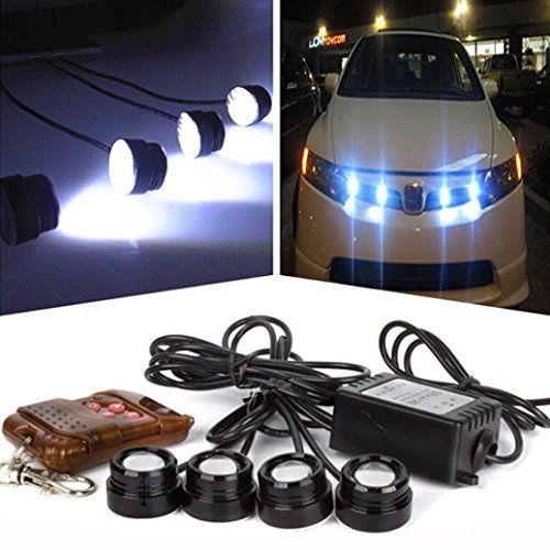 Strobe Lights For Cars Impressive Tonsee 4In1 12V Hawkeye Led Car Emergency Strobe Lights Drl Wireless