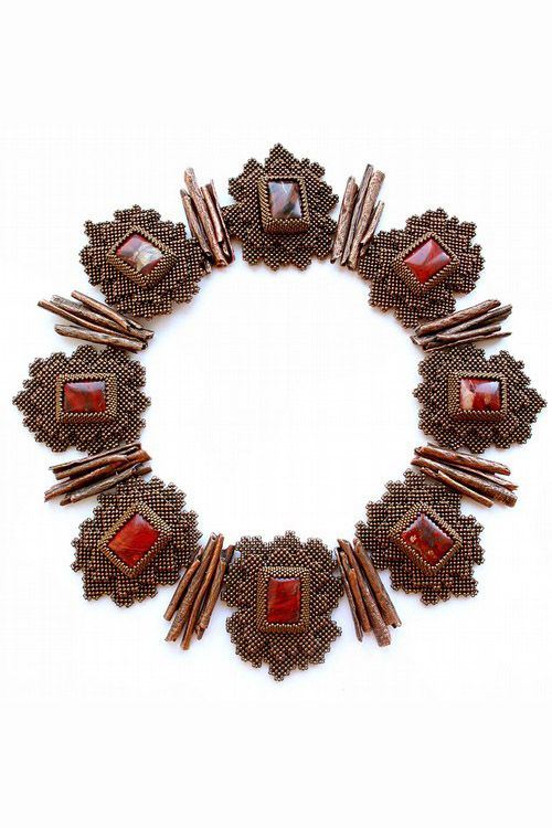 Bead artwork by Alla Maslennikova. Spicework Necklace