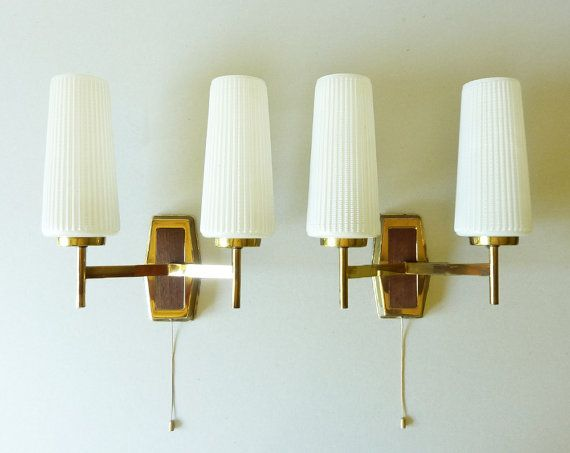 Vintage French Wall Sconces 1960su0027 - Mid Century Wall L&s - Stilnuovo on Etsy & Vintage French Wall Sconces 1960su0027 - Mid Century Wall Lamps ...