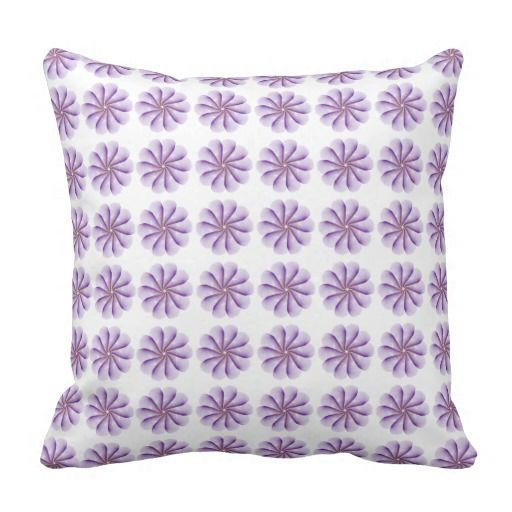 Pink Dandelion Polyester Throw Pillow