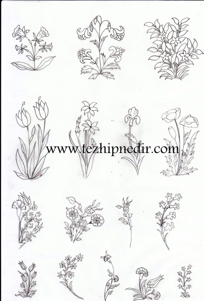 Karamemi tezhip | ลายปัก | Pinterest | Dibujos bordados, Dibujos ...
